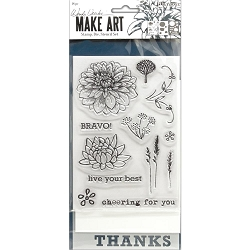 Ranger - Bravo Clear Stamp, Die & Stencil set by Wendy Vecchi Make Art