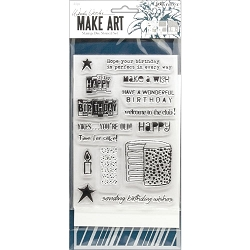 Ranger - Birthday Bash Clear Stamp, Die & Stencil set by Wendy Vecchi Make Art