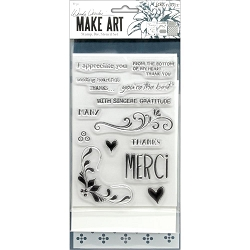Ranger - Merci & More Clear Stamp, Die & Stencil set by Wendy Vecchi Make Art