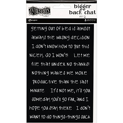 Ranger - Dylusions Bigger Back Chat Stickers - Set #2 Black