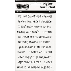 Ranger - Dylusions Bigger Back Chat Stickers - Set #2 White