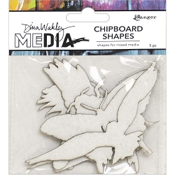 Ranger - Dina Wakley Media - Flying Chipboard Shapes