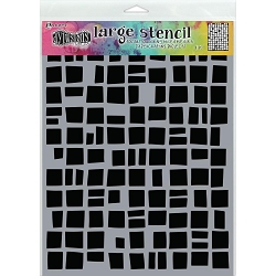 Ranger - Dylusions Stencil - Betsy's Block Large (9