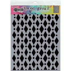 Ranger - Dylusions Stencil - Court Jester Large (9