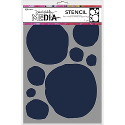 Ranger - Dina Wakley Media Stencil - Circles For Painting (6