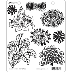 Dylusions - Cling Rubber Stamps - Foliage Fillers