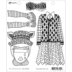 Dylusions - Cling Rubber Stamps - The Ties The Limit!