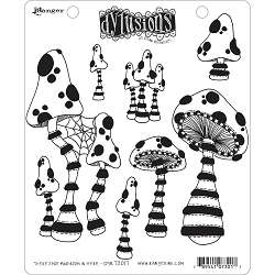 Dylusions - Cling Rubber Stamps - There's Not Mushroom In Here!