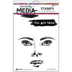 Ranger - Dina Wakley Media - Fierce Cling Mounted Rubber Stamp Set