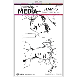 Ranger - Dina Wakley Media - Thoughtful Women Cling Mounted Rubber Stamp Set