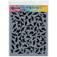 Ranger - Dyan Reaveley's Dylusions Stencils - Breeze of Birds Large 9