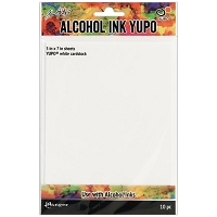 Ranger - Tim Holtz Alcohol Ink White Yupo Paper (5