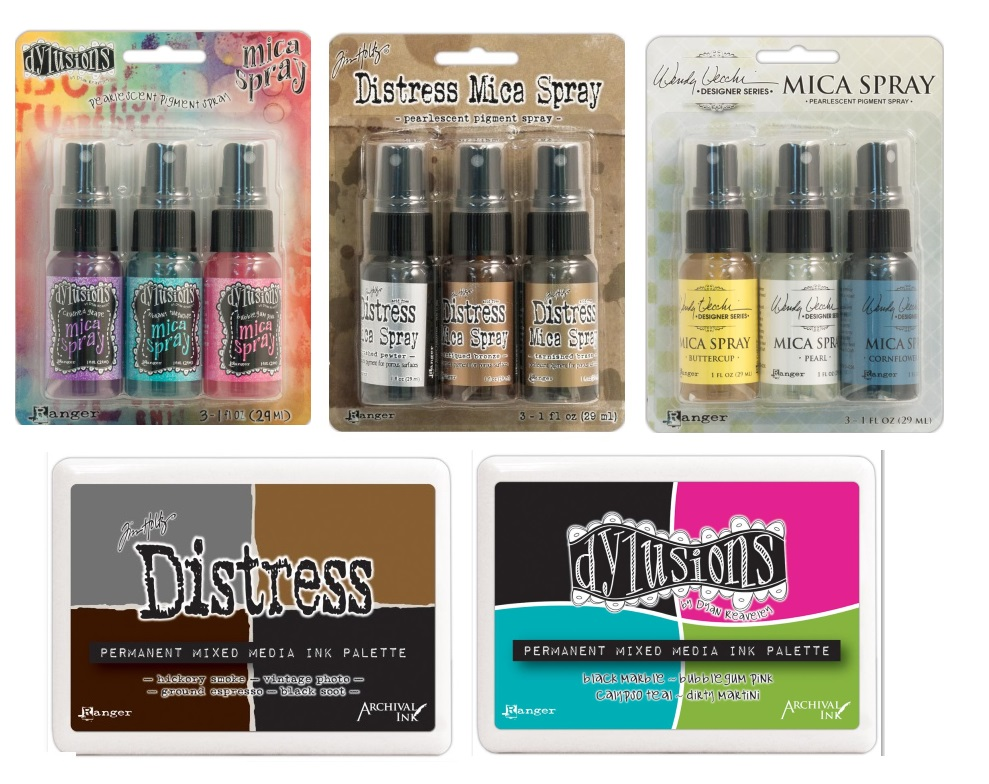 Mica Sprays and Ink Palettes