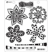 Dylusions - Cling Rubber Stamps - Doodle Blooms