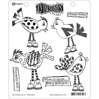 Dylusions - Cling Rubber Stamps - Put A Bird On It