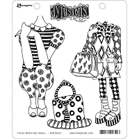 Dylusions - Cling Rubber Stamps - These Boots Are Made . . .