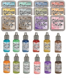 Ranger - Tim Holtz Distress Oxide Ink Pads and Reinkers - all 12 first generation colors (save 10%)