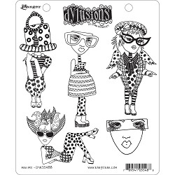 Stamper's Anonymous/Ranger - Dylusions Cling Stamps - Mini Me