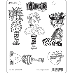 Stamper's Anonymous/Ranger - Dylusions Cling Stamps - Mini Moo