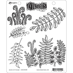 Stamper's Anonymous/Ranger - Dylusions Cling Stamps - Oodles Of Foliage