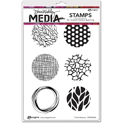 Ranger - Dina Wakley Media - Cling Mounted Rubber Stamp Set - Circle Patterns