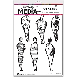 Stamper's Anonymous/Ranger - Dina Wakley Media - Cling Mounted Rubber Stamp Set - Abstract Figures