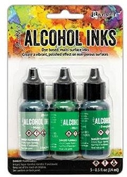 Ranger - Tim Holtz Alcohol Ink - Mint/Green Spectrum Kit