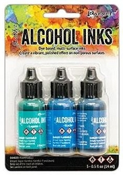 Ranger - Tim Holtz Alcohol Ink - Teal/Blue Spectrum Kit