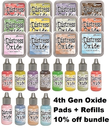 Ranger - Tim Holtz Distress Oxide Ink Pads and Reinkers - all 12 NEW colors (SPECIAL 10% off regular price)