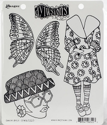 Dylusions - Cling Rubber Stamps - Sunday Best