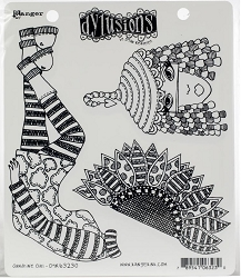 Dylusions - Cling Rubber Stamps - Sunshine Girl