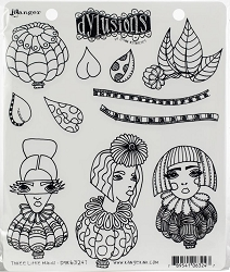 Dylusions - Cling Rubber Stamps - Three Little Maids