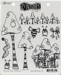 Dylusions - Cling Rubber Stamps - Toadstool Town