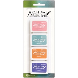 Ranger - Wendy Vecchi Mini Archival Ink Pads - Kit #3