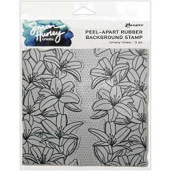 Ranger - Simon Hurley Cling Stamp - Lovely Lilies