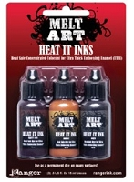 Ranger Melt Art - Heat It Inks - Majestic Gems