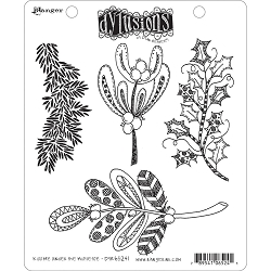 Dylusions - Cling Rubber Stamps - Kiss Me Under The Mistletoe