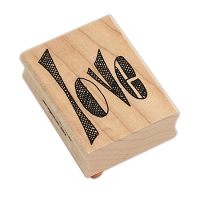 Ranger - Dylusions Wood Mounted Stamp by Dyan Reaveley - Love Word