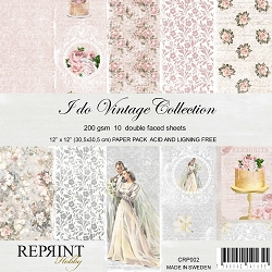 Reprint - I Do Vintage 12x12 collection kit