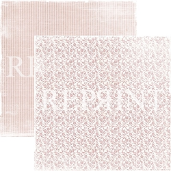 Reprint - I Do Small Pink Flowers 12x12 cardstock