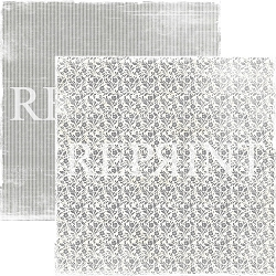 Reprint - I Do Small Grey Flowers 12x12 cardstock