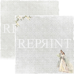 Reprint - I Do Bride & Groom 12x12 cardstock