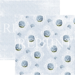 Reprint - Dusty Blue Hydrangea 12x12 cardstock