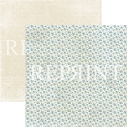 Reprint - Dusty Blue Tiny Flowers 12x12 cardstock