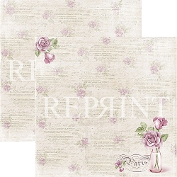 Reprint - Lilac Paris Rose 12x12 cardstock