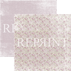 Reprint - Lilac Paris Small Roses 12x12 cardstock