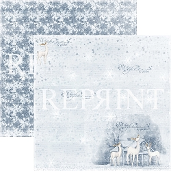 Reprint - Christmas Time Glittery Night 12x12 cardstock