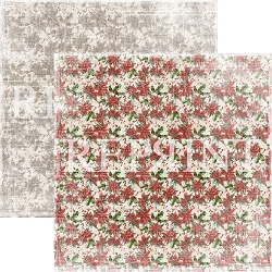 Reprint - Christmas Time Poinsettia 12x12 cardstock