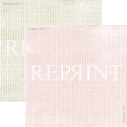 Reprint - Sweet Baby Pink Stripes 12x12 cardstock