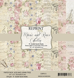 Reprint - Music and Roses 12x12 collection kit
